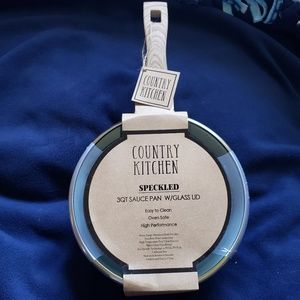 *NEW* Country Kitchen 3QT Speckled Saucepan